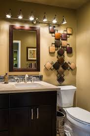 Diamond Bathroom Cabinets Contemporary Powder Room With European Cabinets U0026 Stone Tile In