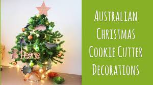 australian cookie cutter christmas tree decorations youtube