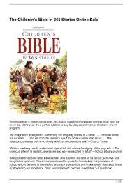 the children u0026 8217 s bible in 365 stories online sale