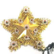 Disney Tinkerbell Christmas Tree Topper by 1900 11 Gold Tinsel Unlit Tree Toppers For Christmas Trees Garden