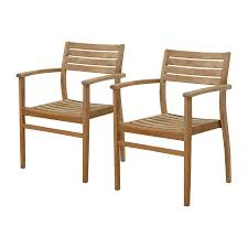 Shop Dining Chairs Shop International Home Amazonia Set Of 2 Teak Stackable Patio