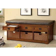 Cushioned Storage Bench 50 Inch Storage Bench Corner Storage Bench With Cushion 40 Inch