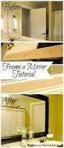 Diy Bathroom Mirror by Diy Bathroom Mirror Frame For Less Than 20 Need To Do This In My