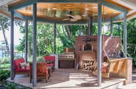 rustic porch with exterior tile floors u0026 gazebo in saint