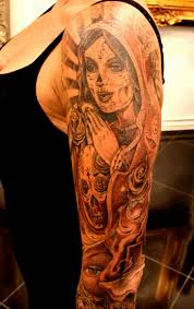 tattoo sleeve religious designs virgin mary sugar skull tattoo tattoos pinterest sugar skull