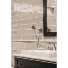 shop allen roth 8 pack pearl ceramic wall tiles common 3 in x