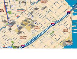 san francisco map downtown downtown san francisco south of market yerba buena center and