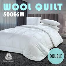 All Seasons Duvet Double Wool Duck Goose Down Feather Microfiber Quilt Blanket Duvet All