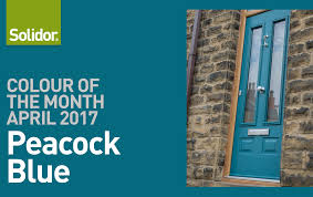 going bold in april with peacock blue solidor