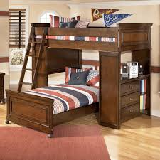Ashley Childrens Bedroom Furniture by Portsquire Loft Bed With Chest U0026 Desk From Signature Design By