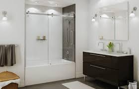 Shower Bath Doors Frameless Shower Cost Glass Enclosures Frameless Sliding Glass Tub