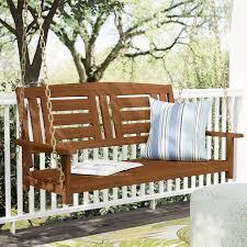 langley street arianna hardwood hanging porch swing u0026 reviews