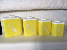 Retro Canisters Kitchen I Would Killll To These In My Kitchen For