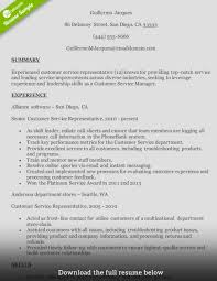 Customer Service Rep Resume Sample How To Write A Perfect Customer Service Representative Resume