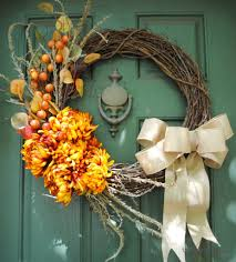 door wreaths fall door wreaths ideas for your home the country chic cottage