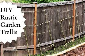 How To Build Trellis Diy Rustic Pea Bean Or Garden Trellis One Hundred Dollars A Month