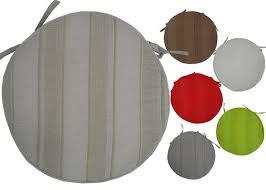 galettes de chaises rondes coussin de chaise rond 40cm coloris uni modèle olympe épais