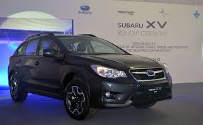 gray subaru crosstrek ckd subaru xv official roll out at tan chong u0027s segambut plant
