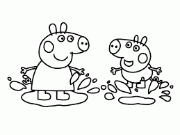 muddy pig coloring page kids drawing and coloring pages marisa