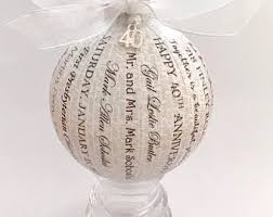 50th wedding anniversary christmas ornament custom memory ornaments by happythoughtsbykelly on etsy