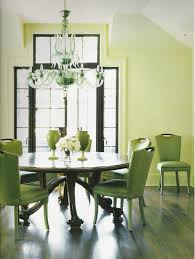 Green Dining Rooms Green Vinyl Upholstered Dining Chairs Mixed With