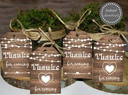 rustic favor tags rustic thank you tags printable rustic wedding