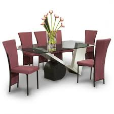 furniture luxury modern dining room set with glass table model