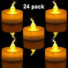 led tea lights battery life amazon com homemory pack of 24 flameless led tea light amber