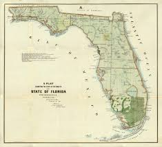 Map Of State Of Florida by Florida Memory State Of The Surveys Of Florida 1855