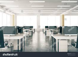 modern open space loft office furniture stock photo 351154142
