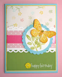 Self Made Greeting Cards Design Handmade Card Happy Birthday Butterfly Family Friends Homemade
