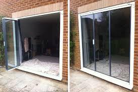 Frameless Patio Doors Glazed Frameless Retractable Patio Doors Extension Doors