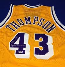mychal thompson signed los angeles lakers jersey psa dna cert
