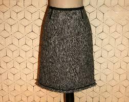 tweed skirt vintage tweed skirt etsy