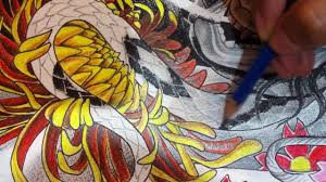drawing japanese tattoo design by pang tattoo artist youtube