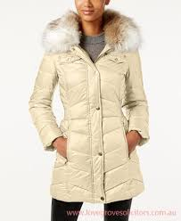 laundry by design hooded jacket laundry by design junior coats faux fur trim hooded puffer bone