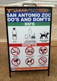 san antonio zoo lights coupon san antonio zoo do s and don ts zoo signage pinterest san