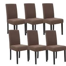 lot de 6 chaises salle à manger cuba lot de 6 chaises de salle manger marron achat vente appartenant