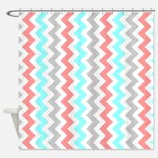 Turquoise And Grey Shower Curtain Chevron Orange And Grey Shower Curtains Chevron Orange And Grey