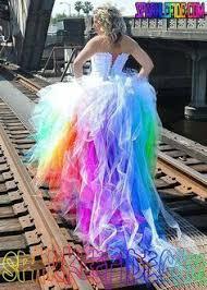 tie dye wedding dress rainbow wedding dress by sparklefide totally tutus
