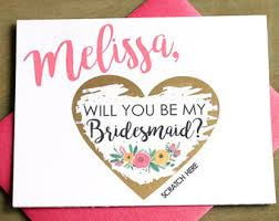 will you be my bridesmaid invitation will you be my bridesmaid scratch card bridesmaid