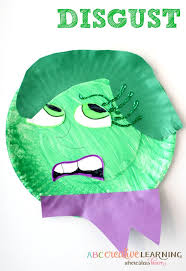 easy and fun inside out inspired movie paper plate kids craft