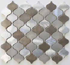 details about new amsterdam brushed aluminum arabesque mosaic