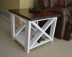 Rustic Coffee And End Tables Rustic End Table Etsy