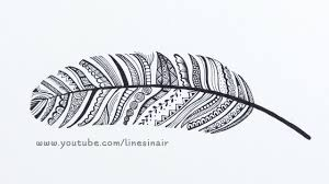 how to make a zendoodle feather doodle zendoodle