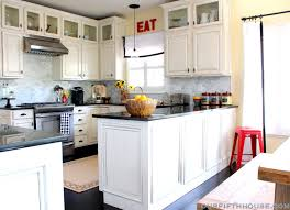 Mini Pendant Lights Over Kitchen Island New Kitchen Lighting A Lantern Over The Sink Our Fifth House