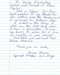 Thank You Letter Veterans side note and thank you letters shirley s scoop