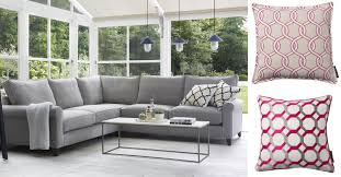 Home Decorators Living Room Sofas Magnificent Get The Look Grey And Pink Blog Sofa Cushions