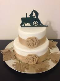 tractor cake topper wedding cake topper wedding and groom farmer