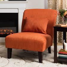 fiesta orange accent chair